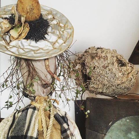 Next week at this time Sage created by Lydia Dierwechter Fiber Art will have a new home.  Don't miss the Witches of Bethel Antique & Artisan Show hosted by Miss Morgan's Milkweed Antiques Saturday October 1 2016 8AM - 4 PM.  Over 70 Awesome Vendors!  #missmorgansmilkweedantiques #industrial #gardenart #primitive #urban #witchesofbethel #berkscountypa #farmhousedecor #cottagedecor #upcycledfurniture #recyclereuserepurpose #metalart #rustydecor #handcrafted #jewlery #architectural #earlypaint…