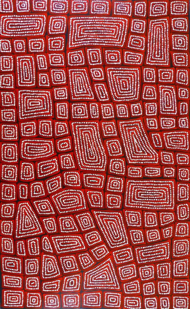 Medium Acrylic on Canvas Dimensions 90x150cm Name Tingari ID TT935 Artist Thomas Tjapaltjarri