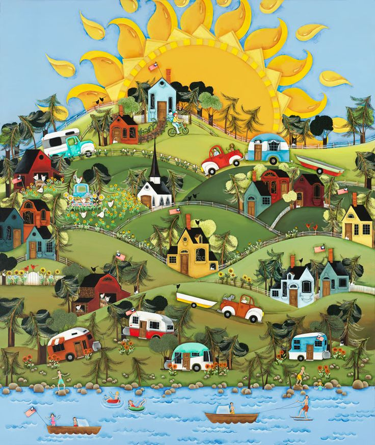 """My Summer Dreams"" by Wilson and Wilson Folkart Co (LOVE their work!)"