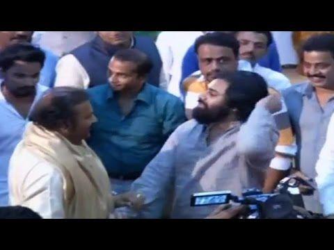 Power Star Pawan Kalyan Fun with Mohan Babu at Manoj Marriage Ceremony