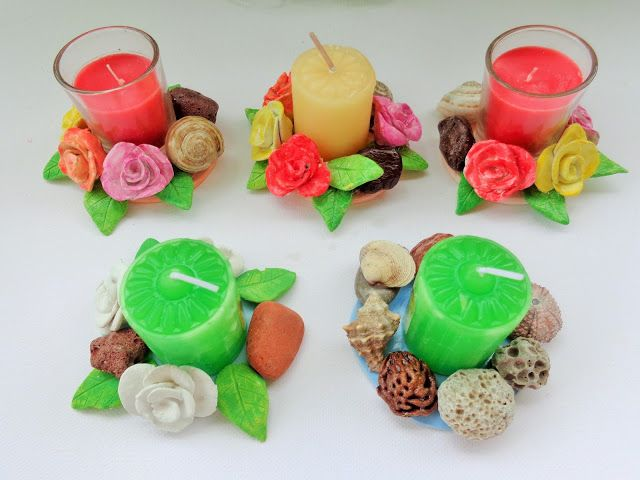 clay candle holders! so cute!