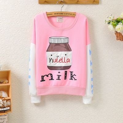 Japanese Milk nutella Sweatshirt from Cute Kawaii {Cuteharajuku}