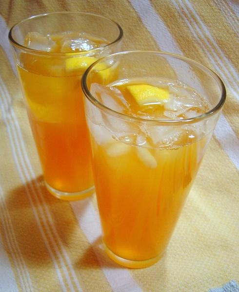 Iced Rooibos and Mango Tea