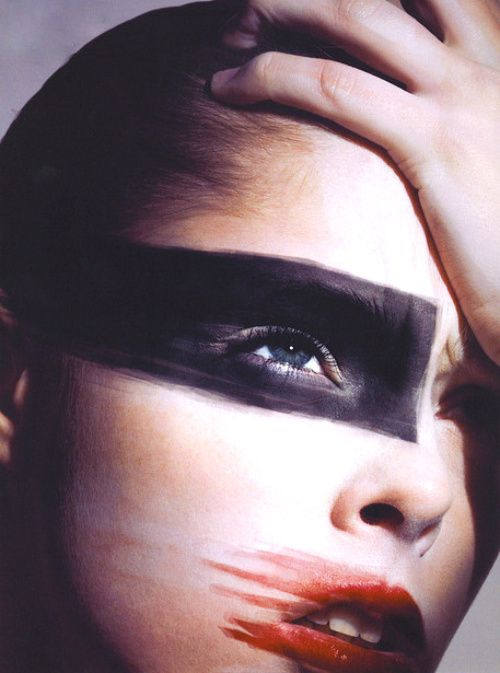 amazing makeup on Coco Rocha by Mario Sorrenti for V #47