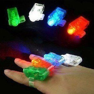 16 FINGER LED LASER / LAZER TORCH LIGHT BEAMS, KIDS PARTY BAG FILLER, DISCO, PUB