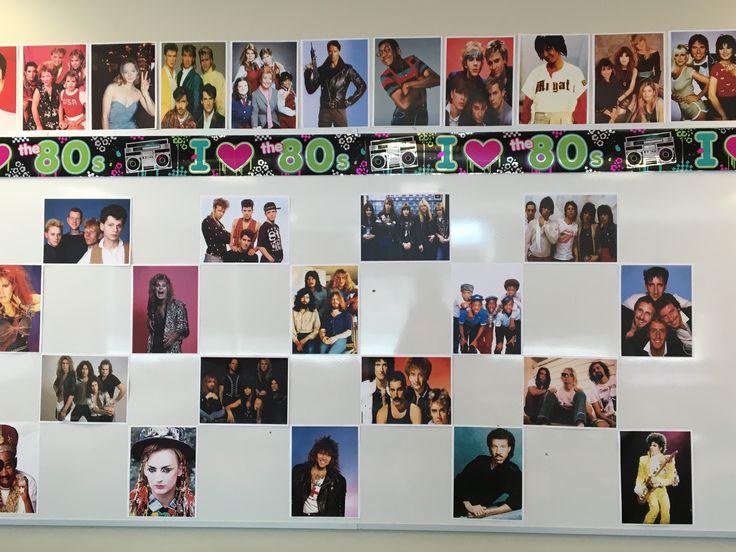80's Theme Backdrop