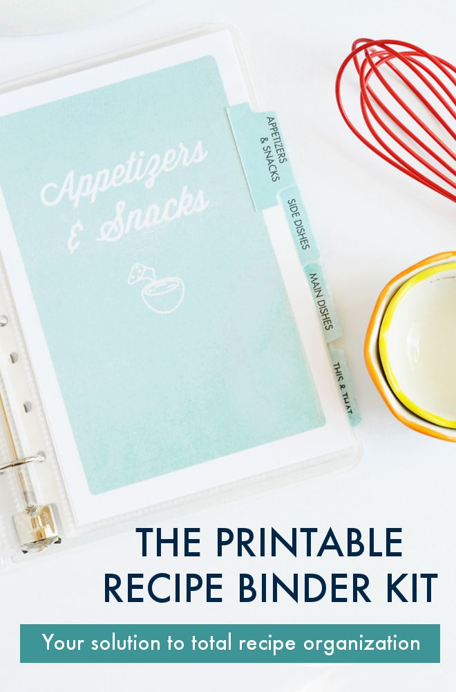 This Printable Recipe Kit is an easy way to organize recipes...at last! Plus, it makes for beautiful gifts!