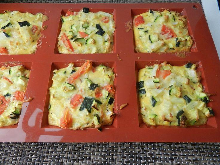 INGREDIENTES: para 6 1 calabacín, 1 cebolla, 1 tomate, 2 huevos, 20 g de harina de maíz, …