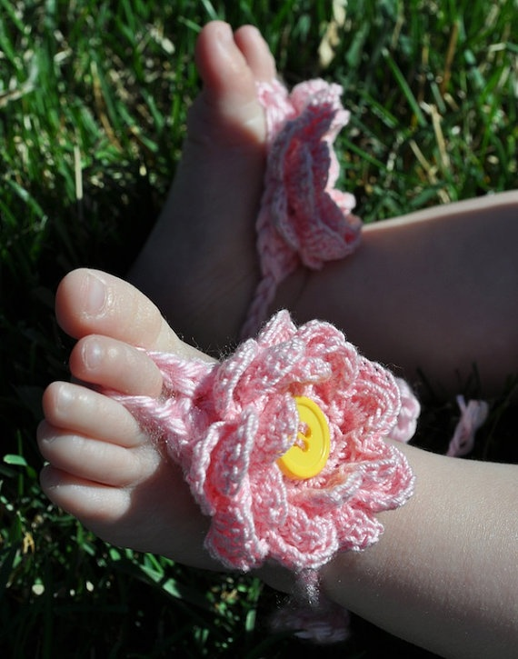 Cute Baby Barefoot Sandals!