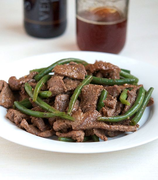Vietnamese beef and green bean stir fry, easy