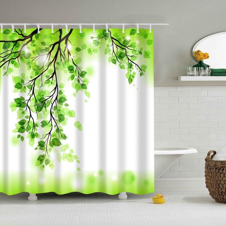 Green Tree shower curtains bathroom curtain cortinas de ducha douchegordijn cortinas bano shower curtains