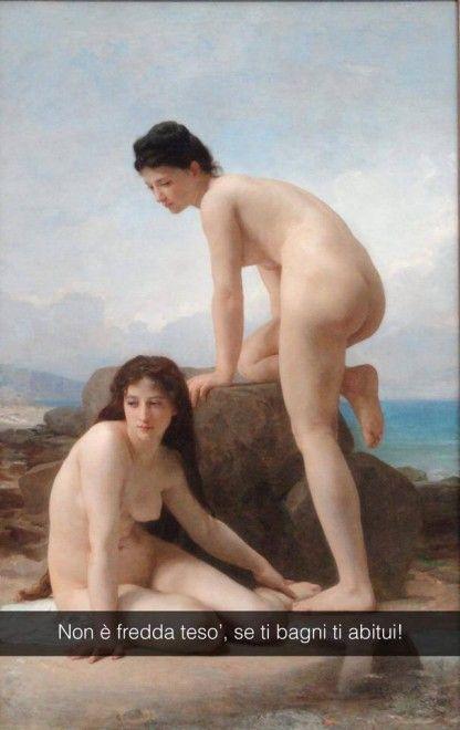 Se i quadri potessero parlare Le bagnanti - William-Adolphe Bouguereau