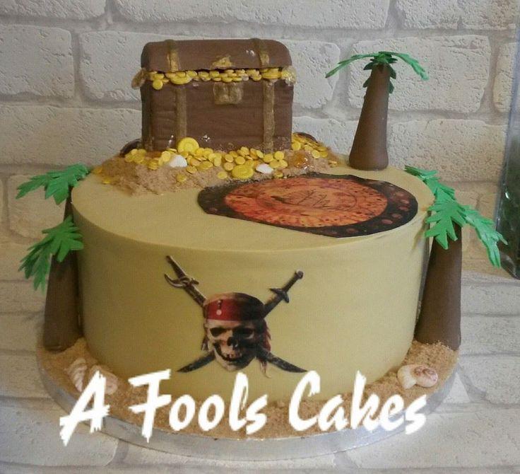 Pirates of the Caribbean cake! #piratesofthecaribbean #afoolscakes