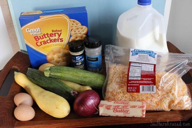 zucchini-Squash-Casserole-ingredients