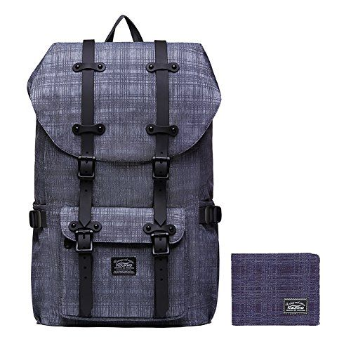 """Laptop Outdoor Backpack, Travel Hiking& Camping Rucksack Pack, Casual Large College School Daypack, Shoulder Book Bags Back Fits 15"""" Laptop & Tablets by Kaukko (2line Grey[2PC]). For product & price info go to:  https://all4hiking.com/products/laptop-outdoor-backpack-travel-hiking-camping-rucksack-pack-casual-large-college-school-daypack-shoulder-book-bags-back-fits-15-laptop-tablets-by-kaukko-2line-grey2pc/"""