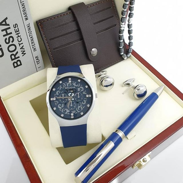 New The 10 Best Fashion Ideas Today With Pictures New Brosha طقم بروشا رجالي ساعة بروشا رجالي ضد الماء ضمان سنه قلم ب Leather Watch Leather Accessories