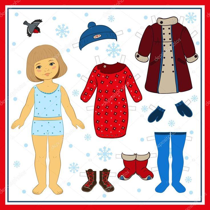 Картинки куклы с зимней одеждой