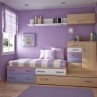 Toddler Room Ideas for Boy in Livelier Theme : Toddler Room Ideas Purple Wall Wooden Purple Cabinets Purple Carpet