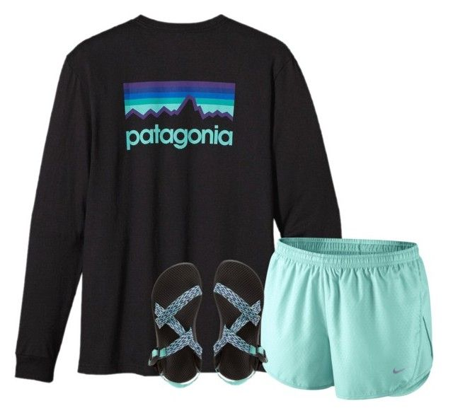Theres a hope thats waiting for you in the dark by pineappleprincess1012 ❤ liked on Polyvore featuring Patagonia, NIKE and Chaco