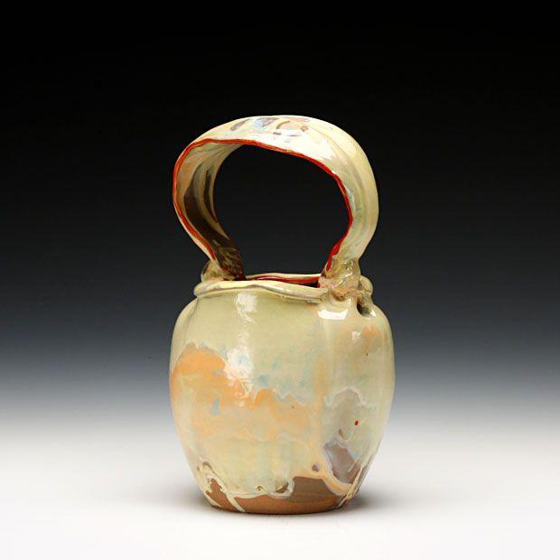 Renee Brown  Basket  Mid range stoneware with lots of slip and glaze: Range Stoneware, Mid Range, Large Item, Renee Brown