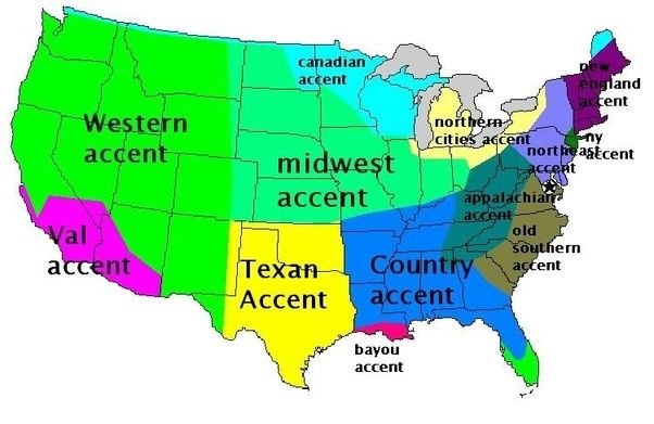 Dialect Map Usa on