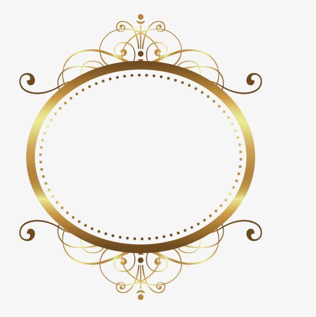 Vector Gold Pattern Frame Borders For Paper Frame Border Design Gold Pattern