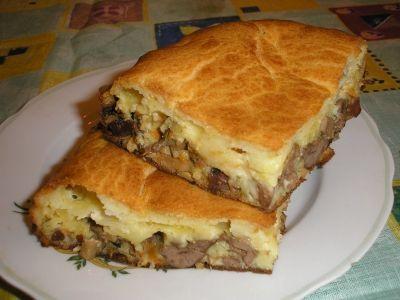 Пирог на кефире с сыром