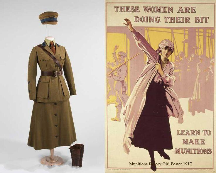 Женская военная форма 1916-1918 годов