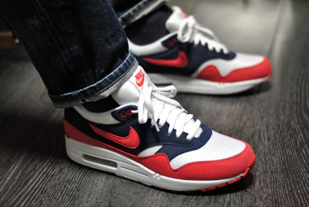 Nike Air max-1 rouge-bleu 2012
