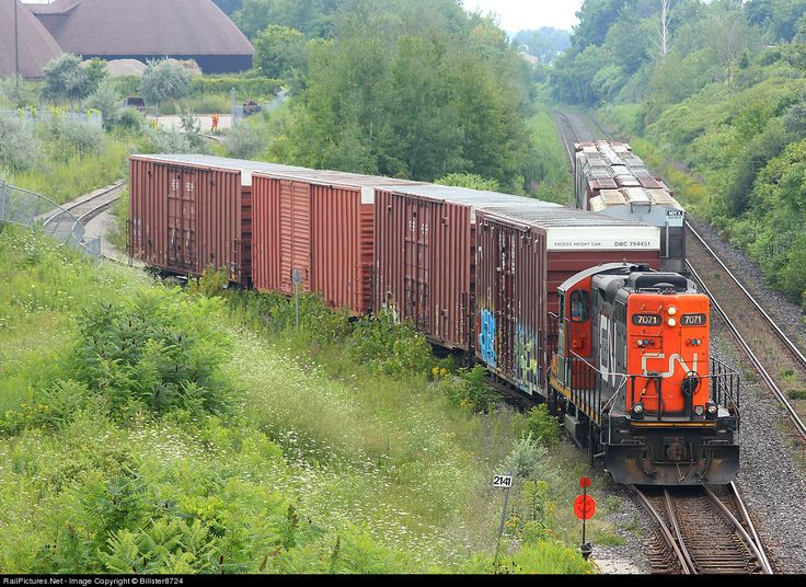 RailPictures.Net Photo: CN 7071 Canadian National Railway EMD GP9 at Brantford, Ontario, Canada by Billster8724