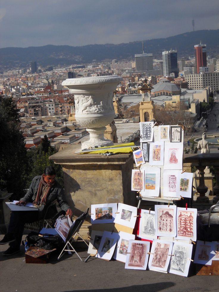 Artisti di strada - Barcelona, Catalonia.