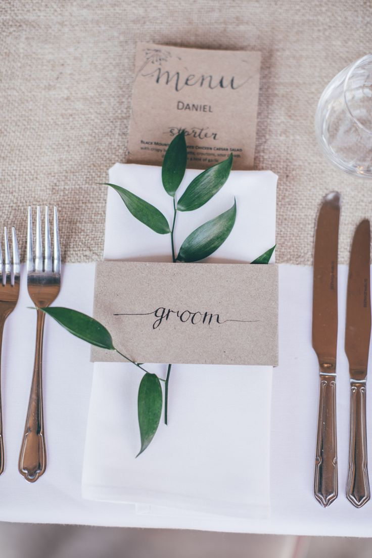 Natural Earthy Greenery Home Made Wedding