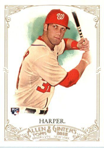 2012 Topps Allen & Ginter Baseball Card #12 Bryce Harper ROOKIE CARD Washington Nationals Encased MLB Trading Card by 2012 Topps Allen & Ginter. $11.95. 2012 Topps Allen & Ginter Baseball Card #12 Bryce Harper ROOKIE CARD Washington Nationals Encased MLB Trading Card