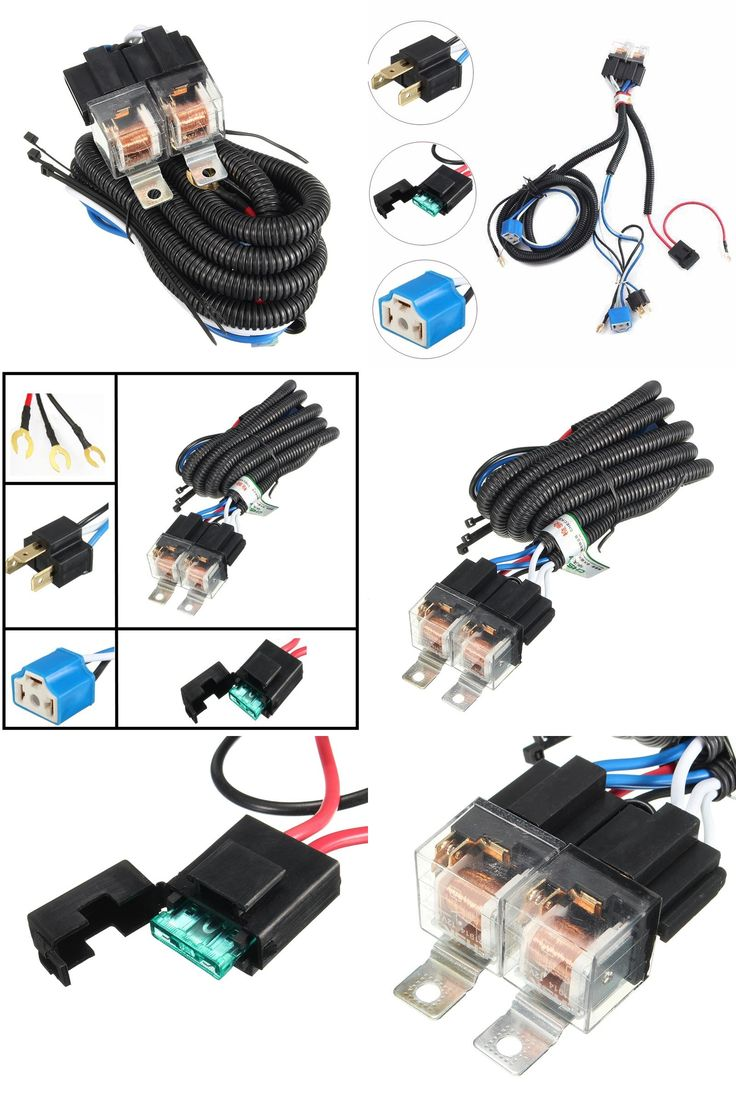 [Visit to Buy] Hot Selling 7 Inch H4 2 Headlamp Relay Wiring Relay Harness Car Light Bulb Socket Plug For Car Auto Headlight #Advertisement