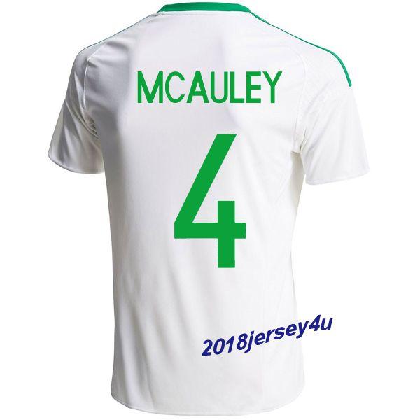 Gareth McAuley 4 2016 UEFA Euro Northern Ireland Away Soccer Jersey