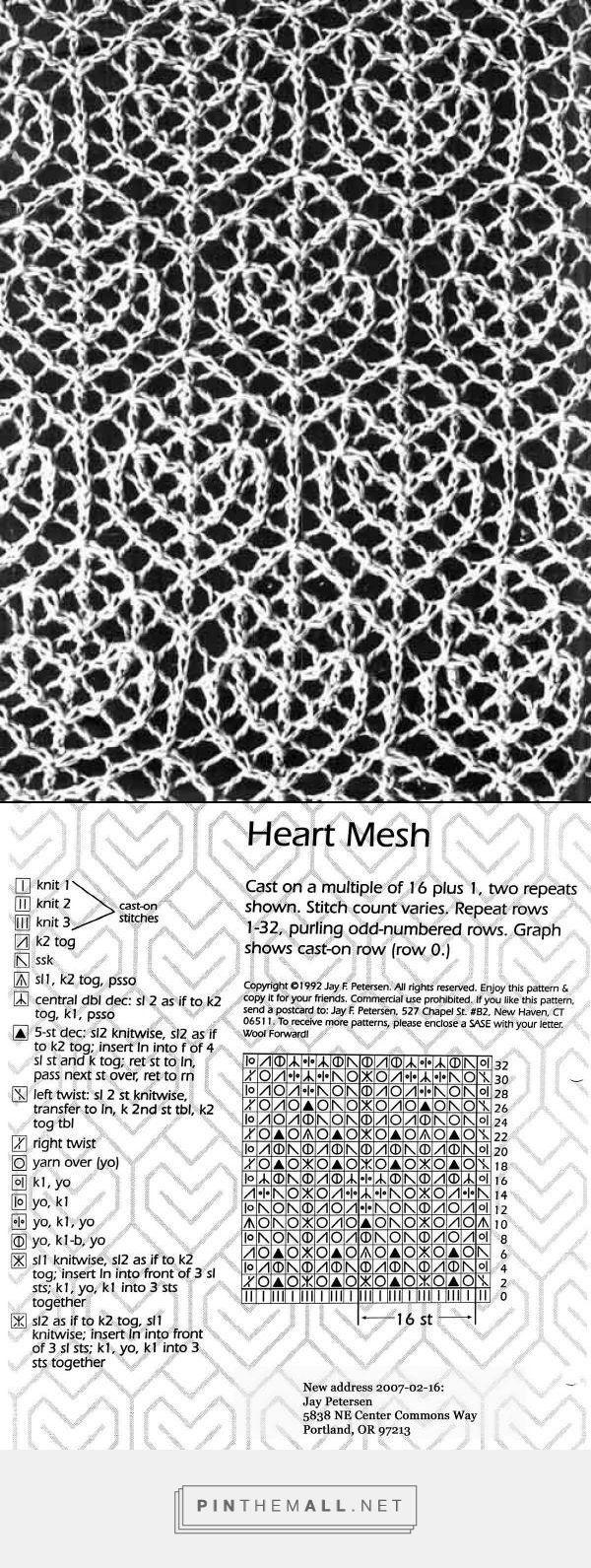 Heart mesh lace ~~