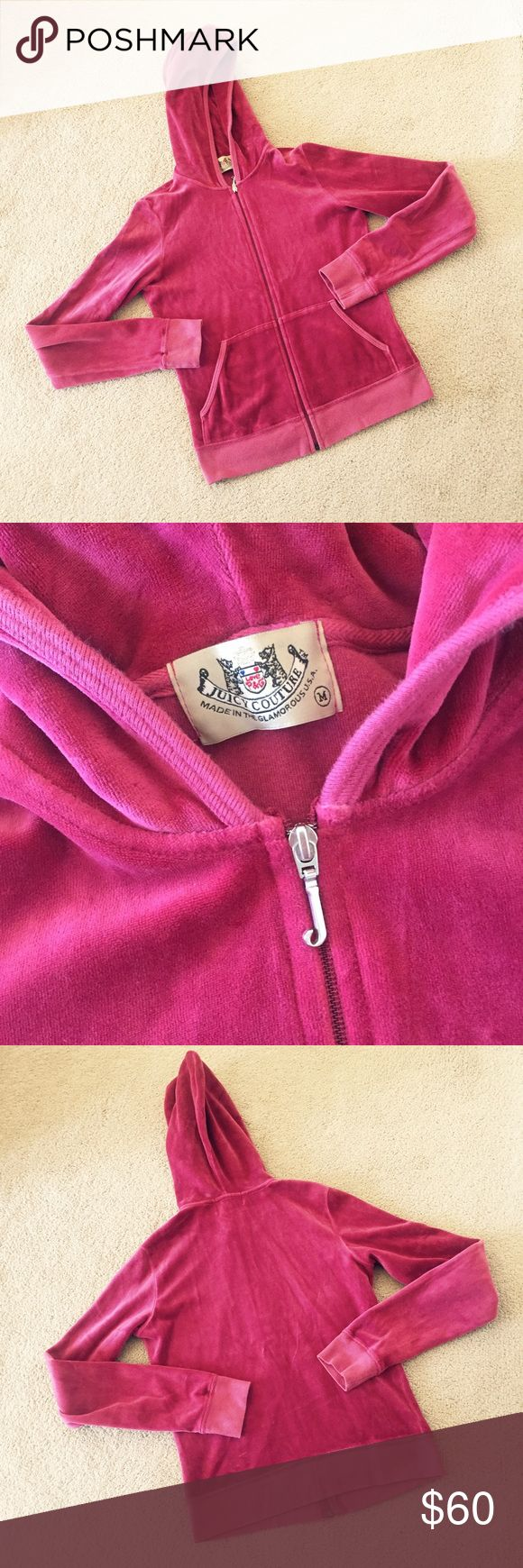 Juicy Couture Tracksuit Jacket Classic Juicy Couture tracksuit style jacket as seen on countless celebrities 😎 Gently worn. Juicy Couture Jackets & Coats