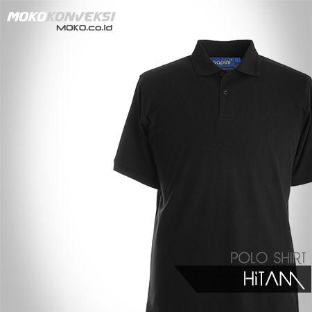 POLO SHIRT POLOS - HITAM - READY STOK - KONVEKSI SEMARANG MOKO. Harga Kaos Seragam Polo Shirt Warna Hitam.