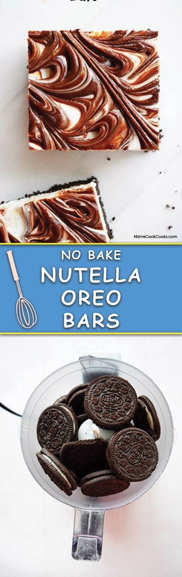 These No Bake/No Cook OREO NUTELLA BARS are stupidly easy, just few ingredients needed and everyone gobbles them up in no time!