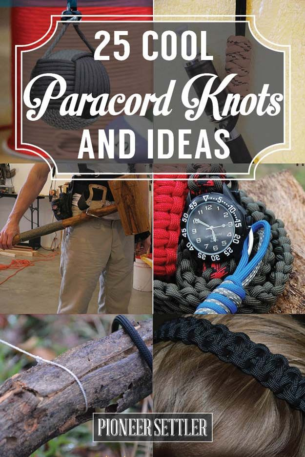 25 Paracord Projects | Paracord Knots & Ideas http://www.belowthetent.com/how-to-tie-paracord-knots/