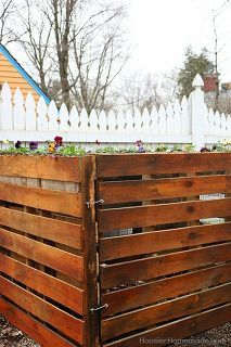 how to build a wooden pallet compost bin in 6 easy steps, composting, go green, how to, pallet, storage ideas