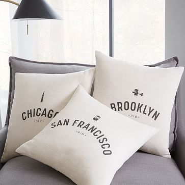 Hometown City Pillow Covers #westelm