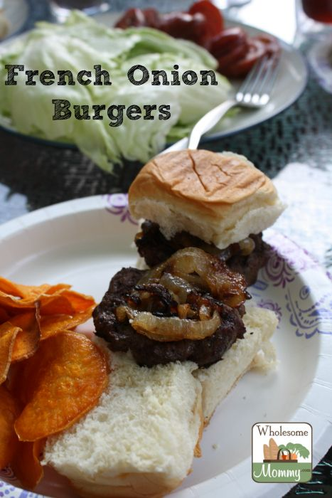 French Onion Burgers A delicious addition to your summer grilling ...
