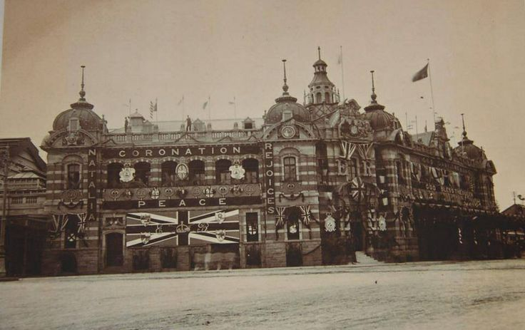 Old Durban station decorated for the coronation 1952/53