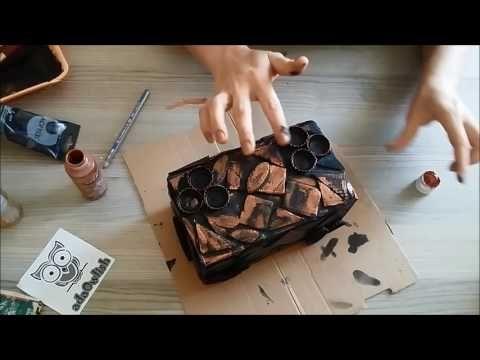 Kartondan Metalik Kutu Yapımı - Geri dönüşüm - Steampunk