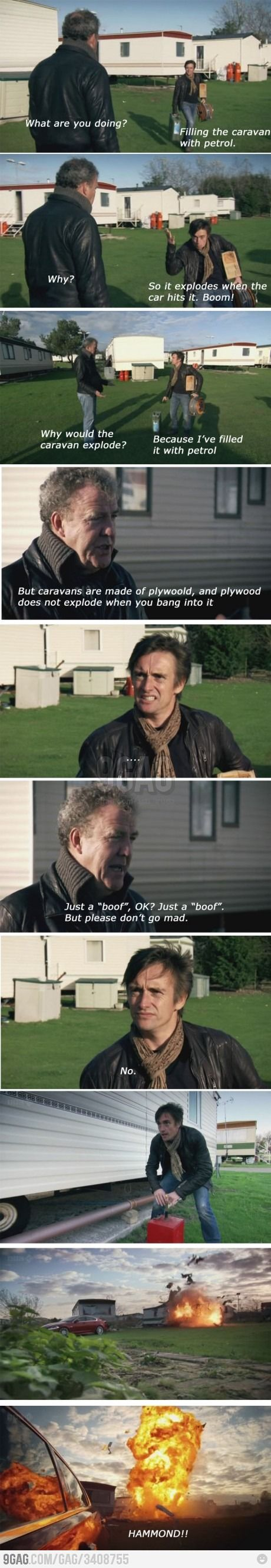 Just another episode of Top Gear.  Don't ask me why I find Richard Hammond absolutely adorable.