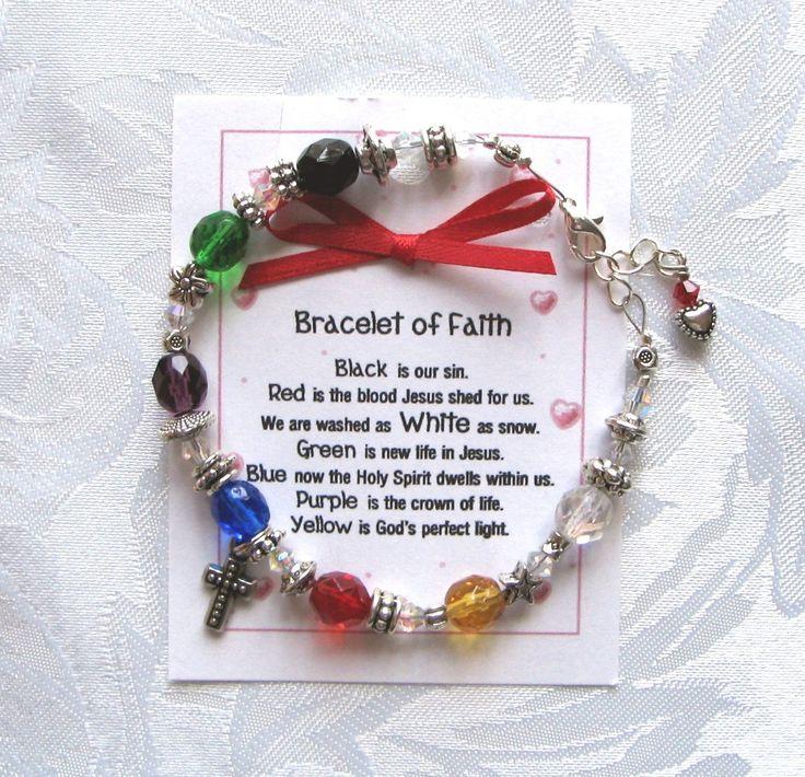 Beaded Salvation Bracelet of Faith Beaded with Cross Charm