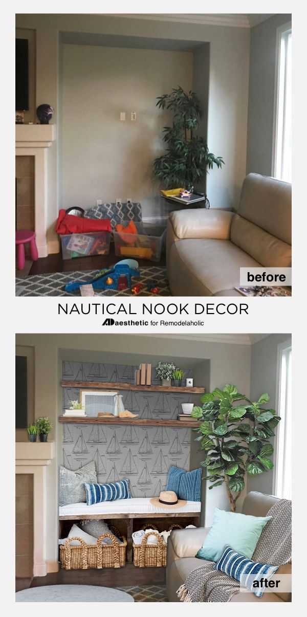 Many Homes Have Those Potentially Awkward Alcoves That Are Tricky To Decorate Try These Creative Living Room Nook Living Room Nook Decorating Ideas Nook Decor