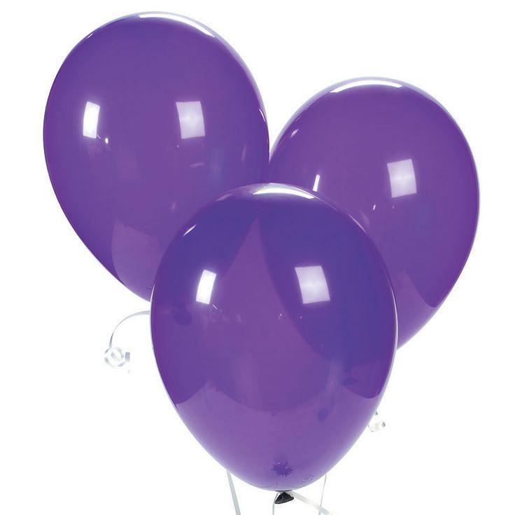 Quartz Purple Latex Balloons - OrientalTrading.com