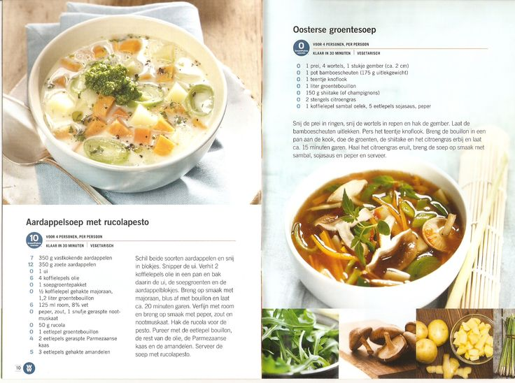 Weight Watchers - Aardappelsoep met rucolapesto // Oosterse groentesoep